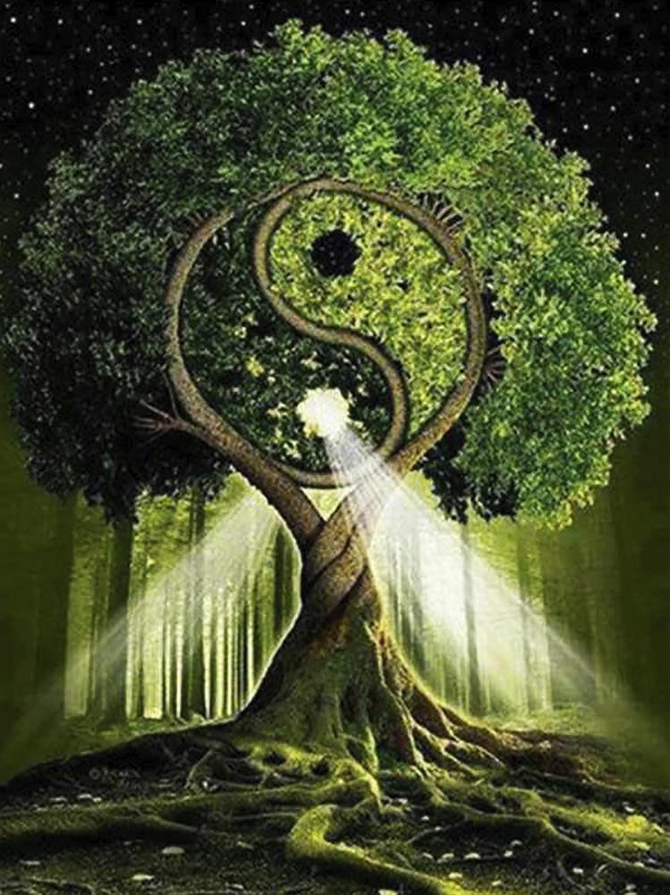 КДИ-0845 Набор алмазной вышивки Дерево жизни – Инь и Янь