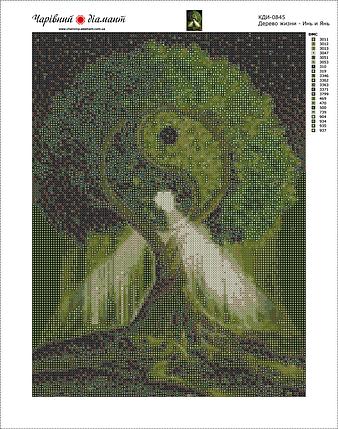 КДИ-0845 Набор алмазной вышивки Дерево жизни – Инь и Янь, фото 2