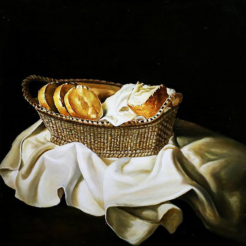 КДИ-0851 Набор алмазной вышивки Корзинка с хлебом. Художник Salvador Dali