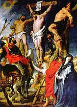КДИ-0852 Набор алмазной вышивки Распятие. Удар копья-2. Художник Peter Paul Rubens