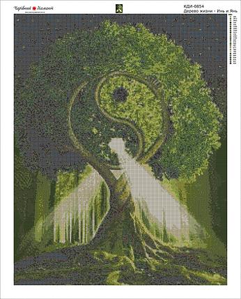 КДИ-0854 Набор алмазной вышивки Дерево жизни – Инь и Янь-2, фото 2