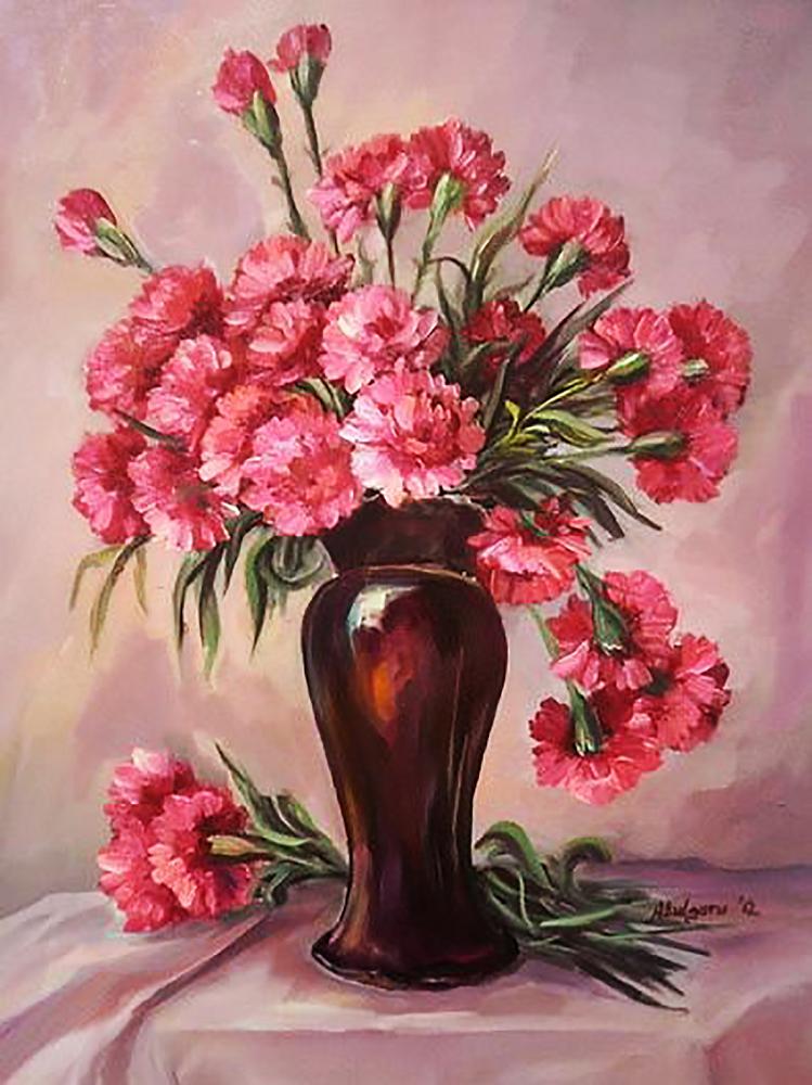 КДИ-0861 Набор алмазной вышивки Букет розовых гвоздик