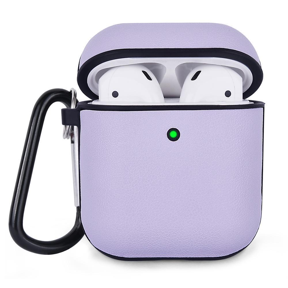 Протиударний чохол для Airpods Apple Шкіра фіолетовий