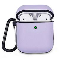 Протиударний чохол для Airpods Apple Шкіра фіолетовий, фото 1