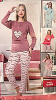 Женская пижама кофта+штаны с плотного трикотажа Турция