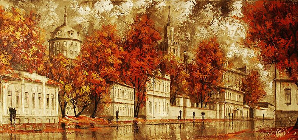 КДИ-0876 Набор алмазной вышивки Осень в городе