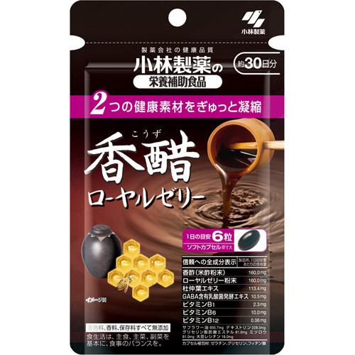 Kobayashi Koya Royal Jelly маточное молочко, черный уксус, GABA, Экстракт Эвкомии, витамины 180 кап на 30д
