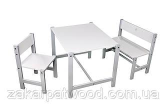 Комплект меблів для дітей з дерева S1-B (колір білий)