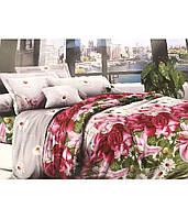 Полуторное постельное белье полиСАТИН 3D (поликоттон)851732