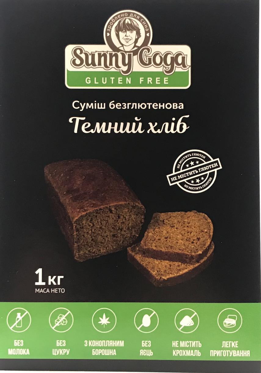 """Безглютеновая смесь """"Темный хлеб"""" 1 кг, фото 1"""