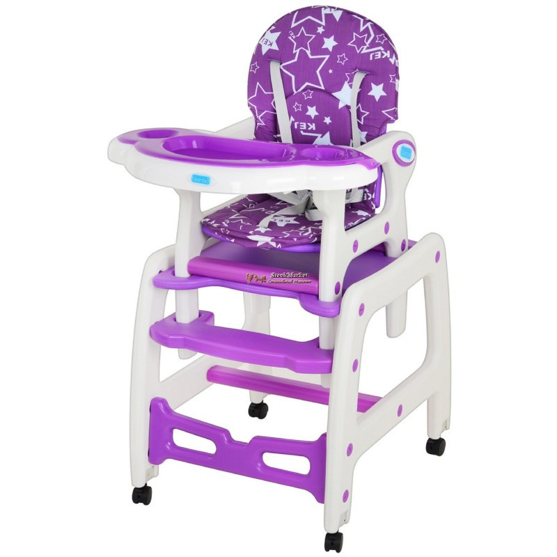 Стульчик для кормления «M 1563-9» Фиолетовый