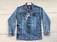 Джинсовая куртка-рубашка на мальчика 8-12 лет