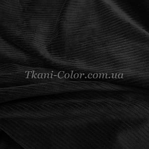 Ткань вельвет костюмно-плательный черный