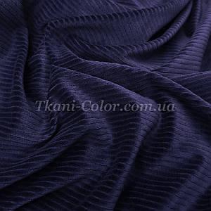 Ткань вельвет костюмно-плательный темно-синий