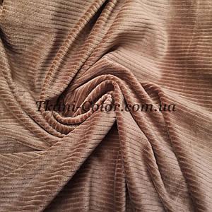Ткань вельвет костюмно-плательный бежевый