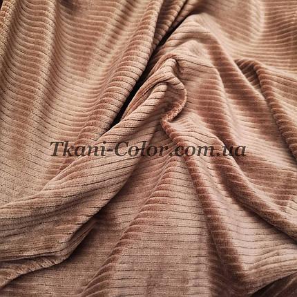 Ткань вельвет костюмно-плательный бежевый, фото 2