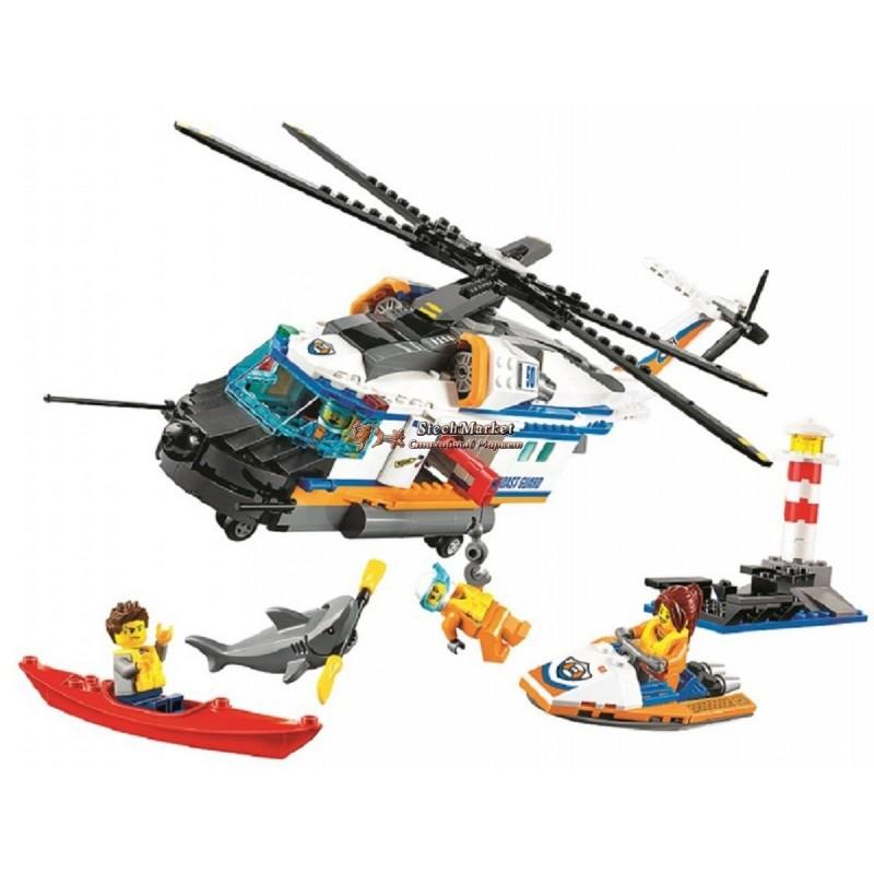 """Конструктор """"Сверхмощный спасательный вертолет"""" Bela Cities 10754 439 деталей"""