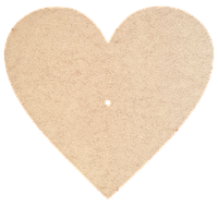 Основа для часов из МДФ № 7 Сердце 37 x 37 см AS-6507, М-2007