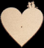 Основа для часов из МДФ № 8 Сердце с котиками 37 x 40 см AS-6508, М-2008