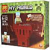 Конструктор Майнкрафт Lele 79159 My World 4 вида 8шт в коробке, фото 3