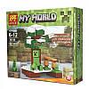 Конструктор Майнкрафт Lele 79159 My World 4 вида 8шт в коробке, фото 4