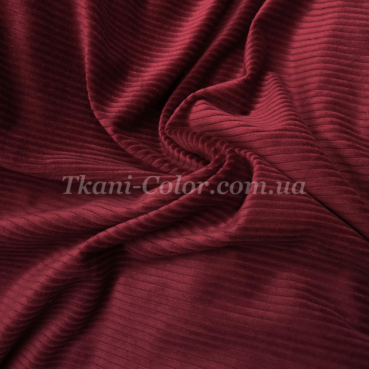 Ткань вельвет костюмно-плательный бордовый