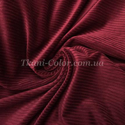 Ткань вельвет костюмно-плательный бордовый, фото 2