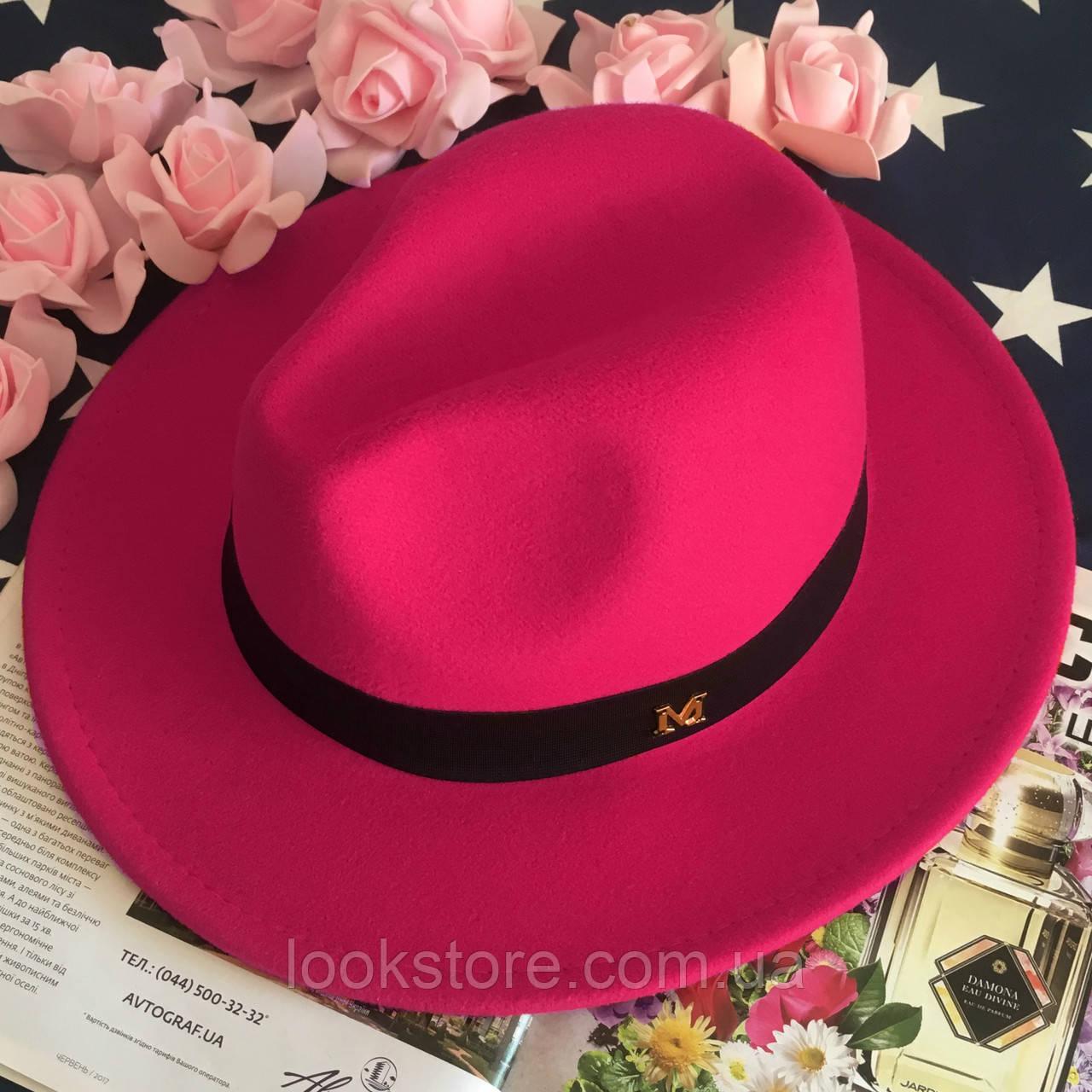 Шляпа Федора унисекс с устойчивыми полями в стиле Maison Michel малиновая