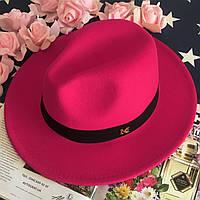 Шляпа Федора унисекс с устойчивыми полями в стиле Maison Michel малиновая, фото 1
