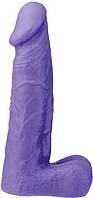 Фаллоимитатор XSKIN 6 PVC DONG - PURPLE, фото 1