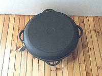 Казан чугунный с чугунной крышкой сковородкой 10 л , фото 1