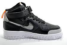 Кроссовки унисекс в стиле Nike Air Force 1 Mid, Black\White 2020, фото 2