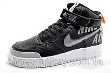 Кроссовки унисекс в стиле Nike Air Force 1 Mid, Black\White 2020, фото 3