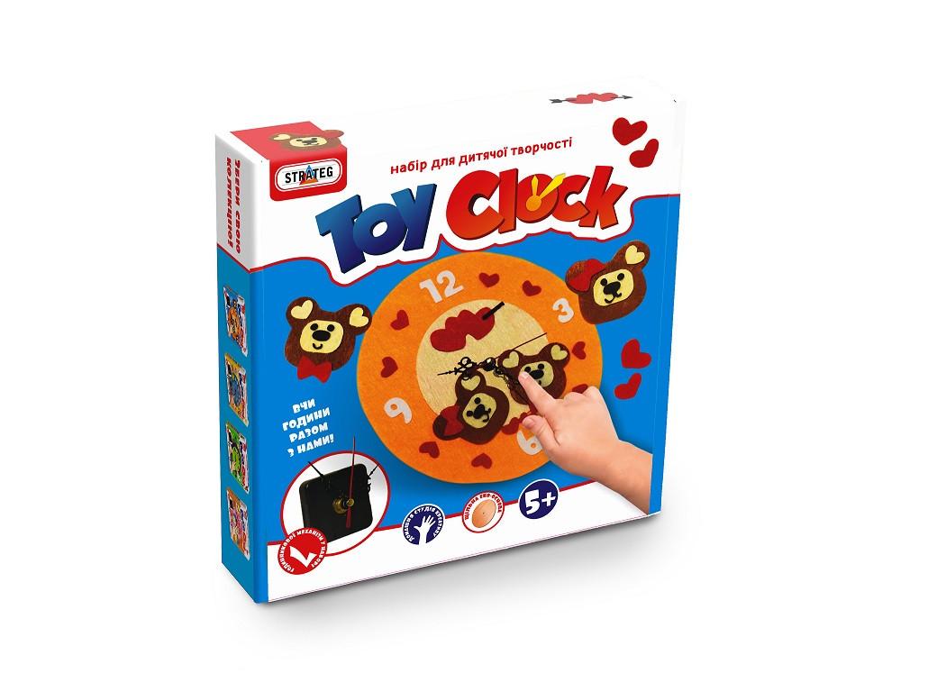 """Набор для творчество. """"Toy clock""""-Мишутки, в кор. 21,7*24*5 см. /12/ Стратег"""
