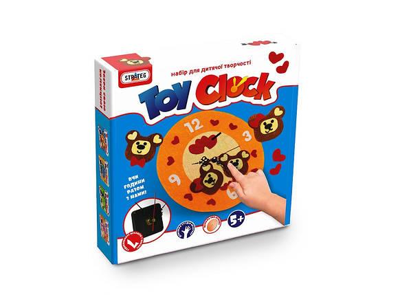 """Набор для творчество. """"Toy clock""""-Мишутки, в кор. 21,7*24*5 см. /12/ Стратег, фото 2"""