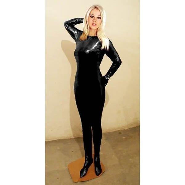 Закрытый виниловый костюм для мужчин и женщин (Unisex) - Черный