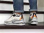 Мужские кроссовки Nike Air Max 720 (светло-серые с оранжевым) - термо, фото 2