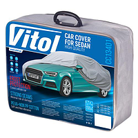 Тент автомобільний з підкладкою Vitol CC13401 L Сірий/482х178х119, фото 1