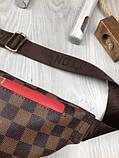 Стильная Женская бананка Louis Vuitton коричневая Турция Качество поясная сумка на пояс VIP Луи Виттон реплика, фото 5