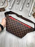 Стильная Женская бананка Louis Vuitton коричневая Турция Качество поясная сумка на пояс VIP Луи Виттон реплика, фото 8