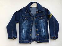 Джинсовая куртка на мальчика 3-7 лет, фото 1