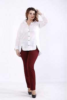 ❤/ Размер 42-74 / Белая рубашка 01282-1 / Больших размеров