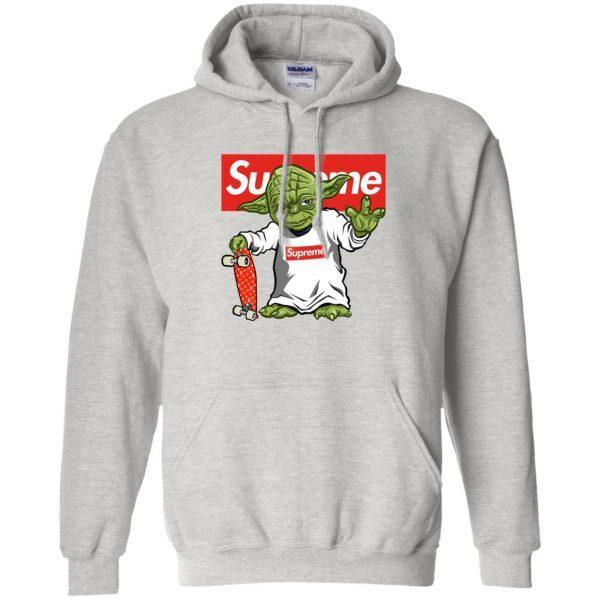 Худи Supreme Yoda серая толстовка 2019