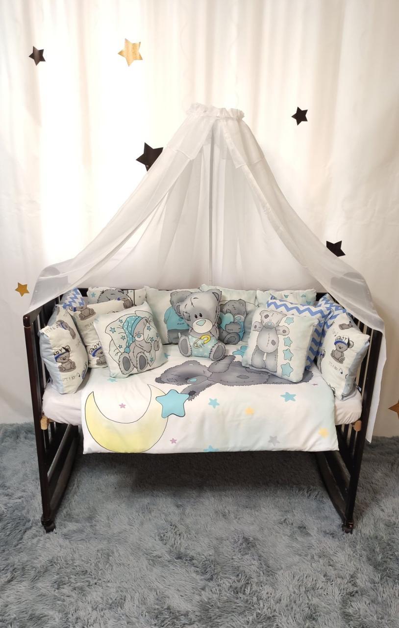 Детский постельный комплект в кроватку Тедди