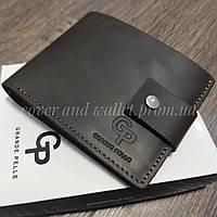 Молодіжний шкіряний гаманець ручної роботи (коричневий) Grande Pelle