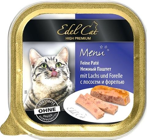 Консервы для кошек Edel Cat паштет с лососем и форелью 100 г