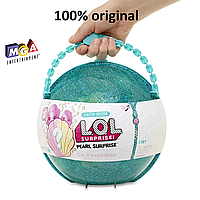 Шар ЛОЛ Сюрприз большой жемчужный бирюзовый шар жемчужина L.O.L. Surprise! Pearl Surprise зеленый оригинал