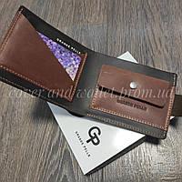Вінтажний шкіряний гаманець ручної роботи Grande Pelle