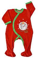 Комбінезон дитячий велюр 56-80 розміри