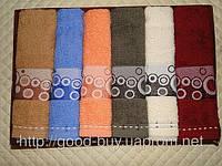 Набор из 6 махровых кухонных полотенец Gulcan Border  6шт: 50х30 Tурция   , фото 1